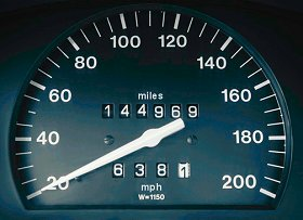 An odometer with a genuine reading